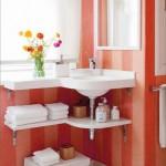 raft pentru prosoape baie sub chiuveta
