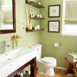 rafturi decorative perete deasupra toaletei baie mica