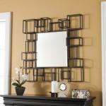 rama decorativa oglinda forme geometrice din fier forjat
