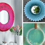 rame decorative handmade din linguri plastic unica folosinta