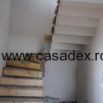 Cofraj pentru sapa peste treptele unei scari