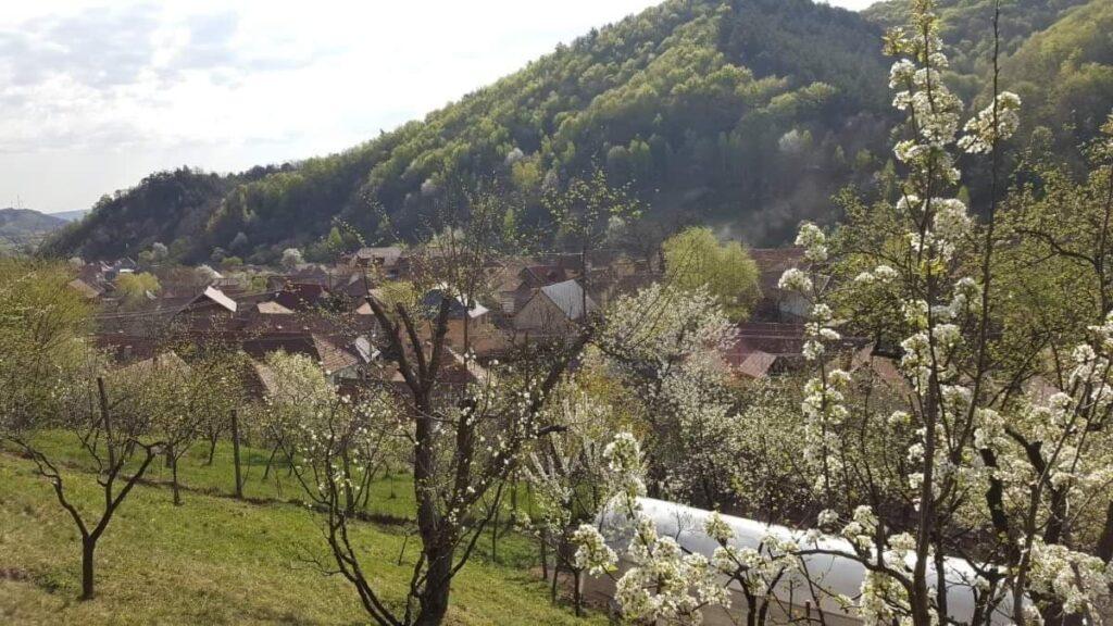 sat romanesc vazut de sus