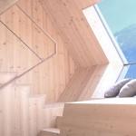 scara interioara acces mansarda casa lemn ufogel austria