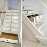 scara interioara lemn cu sertare in trepte