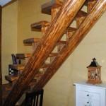 scara interior lemn bustean