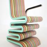 scaun design colorat