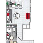 schita apartament mic doua camere