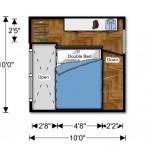 schita plan etaj casa modulara prefabricata