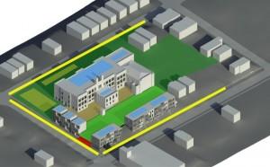 schita proiect transformare scoala veche in complex rezidential