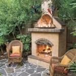 semineu elegant pe foc de lemne pentru gradina