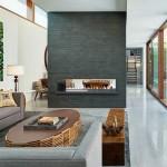 semineu incastrat in perete despartitor living modern minimalist