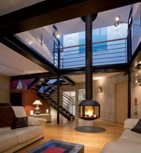 semineu suspendat interior living modern