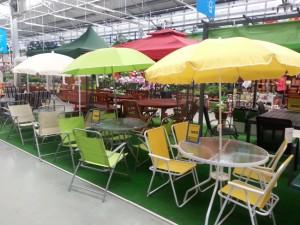 set gradina masa 4 scaune umbrela dedeman
