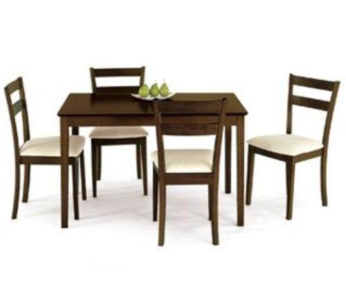 set masa 4 scaune lemn nuc kika
