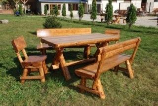 set masa scaune gradina rustic