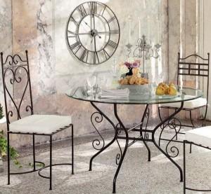 set masa scaune mobilier fier forjat