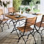 set masa si scaune fier forjat pentru exterior loc de luat masa pe terasa