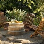 set masa si scaune gradina handmade din butoaie de vin reciclate