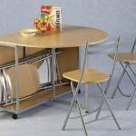 set masa si scaune pliante bucatarie mica