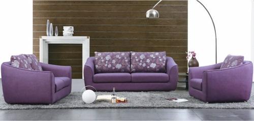 set modern canapea fotolii violet