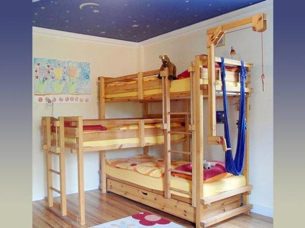 solutii amenajare camera trei copii