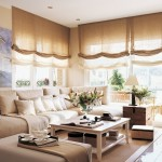 storuri romane transparente in nuante deschise decor living