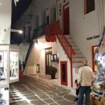 strada comerciala insula Mykonos