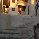 strada in trepte din capitala insulei Mykonos