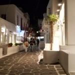 straduta comerciala centrul orasului insula Mykonos
