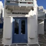 stradute labirint printre casele albe din Mykonos