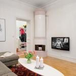 sufragerie apartament stil scandinav decor soba lemne