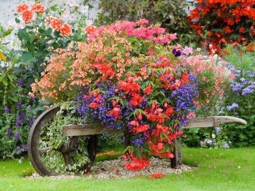 suport flori gradina roaba lemn