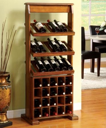 suport lemn sticle vin