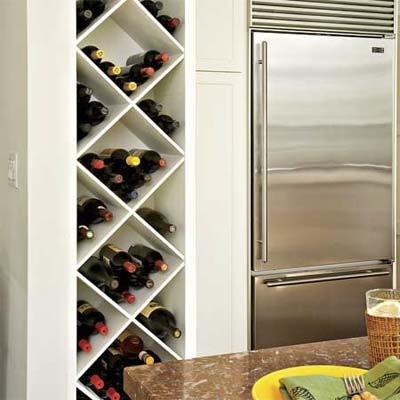 suport vin forma romb