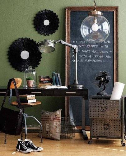 tabla de scris decor birou vintage