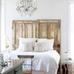tablie capul patului stil shabby chic din usi vechi de lemn