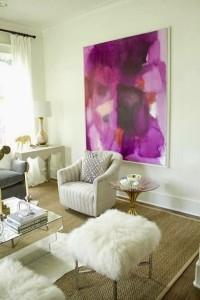 tablou abstract supradimensionat culoarea anului 2014 decor living modern