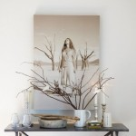 tablou decorativ perete living amenajat in stil nordic scandinav