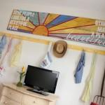 tablou decorativ realizat pe o bucata din lemn