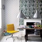 tapet decorativ imprimeu buline perete dining stil scandinav