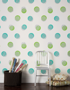 tapet decorativ imprimeu buline perete hol