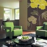 tapet decorativ imprimeu floral decor living modern