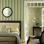 tapet decorativ in dungi decor dormitor amenajat in stil clasic