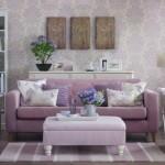 tapet imprimeu floral lila decor living modern lila