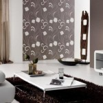 tapet maro imprimeu floral decor living modern
