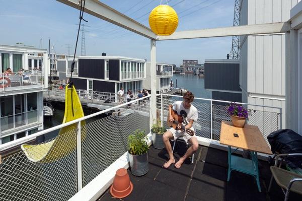 terasa casa plutitoare prefabricata jetty island amsterdam