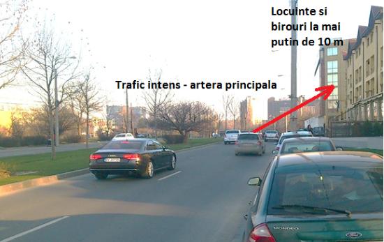 trafic intens - locuinte la mai putin de 10 m de la strada