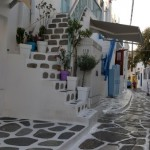 trepte de acces casa specifice insulei Mykonos