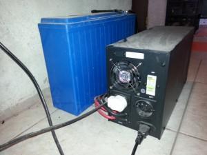 ups si baterie externa legate la centrala pe lemne