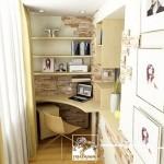 varianta amenajare birou pe colt in balcon mic garsoniera sau apartament